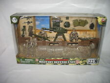 WORLD PEACEKEEPERS MILITARY DEFENSE UNIT 1 :18 SCALE 3 FIGURE ARMY PLAYSET NEW