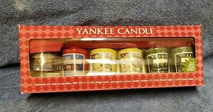6 YANKEE VOTIVE CANDLES 1.75, Home for the Holidays, CHRISTMAS Cookie, Mistletoe