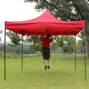 Barnum/Tente Tonnelle rouge 3x3m pliant imperméable Vendeur PRO