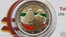 2 euro 2015 Italia smalta colorato italie italien italy Dante Alighieri II tipo