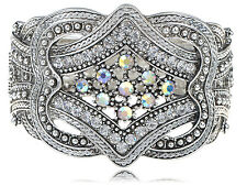 Vintage Men Women Silver Crystal Rhinestone Belt Buckle Wrap Vogue Bracelet