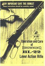 BROWNING BL-22 LEVER ACTION RIFLE GUN MANUAL