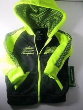 $45 New Balance Toddler Hoodie Jacket Size 2T NWT Yellow-Green Black