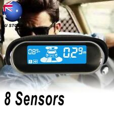 Car 8 Rear Parking Sensor Front View Reverse LCD Display Backup Radar System Kit