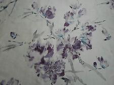 """Designers guild tissu """"oriental fleur"""" 3.75 mètres (375cm) chardon 100% soie"""