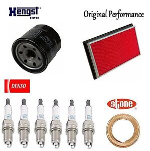 Tune Up Kit Air Oil Filters Plugs Gasket for Infiniti G35 V6; 3.5L 2003-2006