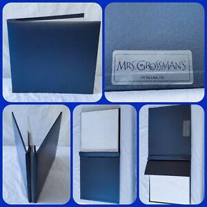 NWOT Mrs. Grossman's Mrs Grossman Scrapbook Photo Album 8x10 Blue Pages Included