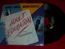 Daryl Hall & John Oats - Adult Education NM/Maneater NM 1984 Electronic 45 & PS