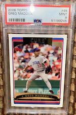 PSA 9 - 2006 Topps Greg Maddux #45 Baseball Card Chicago cubs Atlanta Braves