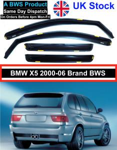 BMW X5 E53 2000-06 BWS Brand Wind Deflectors 4pc UK Stock