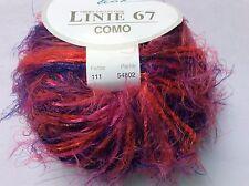 ONline Linie 67 Como #111 Purple Red Pink Long Eyelash Yarn Soft Nylon 50gr 99yd