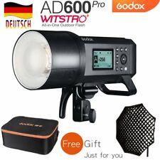 DE Godox AD600Pro 2.4G TTL HSS Blitz mit Akku+Frei CB-09 Koffer+Grid Softbox