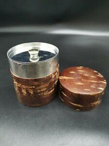 Japanese cherry bark iron Tea Chaite tea caddy canister / no.28
