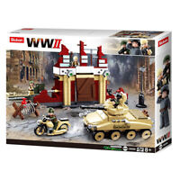 Sluban Kids Army Building Stalingrad Building Toy Blocks WWII Series Battle