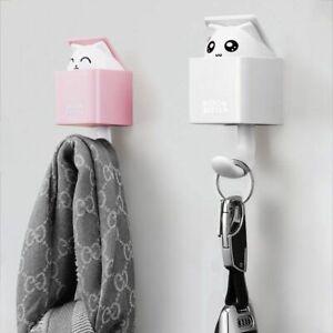 Creative Plastic Hidden Cat Wall Hooks Key Holder Wall Home Decoration Accessory