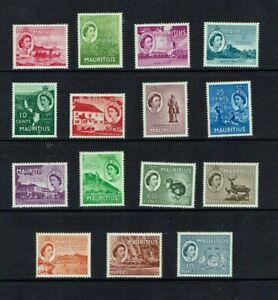 Mauritius 1953, Queen Elizabeth definitive,  Mint hinged set