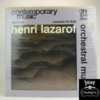 Henri Lazarof – Orchestral Music 1977 Electronic/Classical lp CRI-SD-373 - Mint
