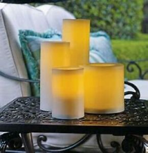 Battery operated Flame less Indoor/ Outdoor Candles set of 3