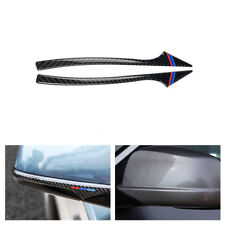 2x Carbon Fiber Rearview Mirror Anti-rub Strip Trim for BMW 5 Series F10 F01 F07