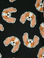 LuLaRoe Os or Tc English Cocker Spaniel Golden Dog Pup on Black New Release