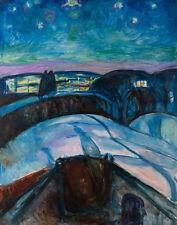 Munch Edvard Starry Night Print 11 x 14  #5714
