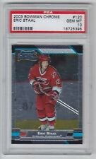 2003-04 BOWMAN CHROME ERIC STAAL RC PSA GEM 10 ROOKIE #120 Hurricanes 18725395