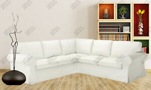 Ikea UPPLAND Cover for sectional 4 seat COVER ONLY, blekinge white - NEW