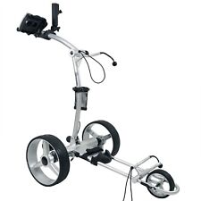 NovaCaddy Remote Control Electric Golf Trolley Cart X9RD Lithium Battery, Silver
