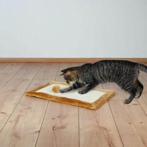 Trixie Cats Kitten Scratching Mat Floor/ Wall Mounted Plush Scratcher 55x35 cm