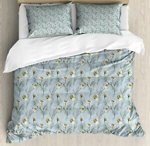 Daisy Duvet Cover Set Twin Queen King Sizes with Pillow Shams Bedding