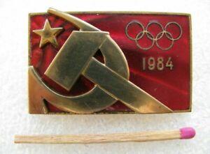 Vintage Badge member of the USSR Olympic team, Sarajevo Winter Games 1984 RARE