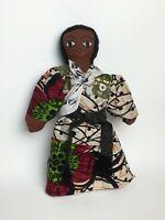 """Jamaican Cloth Stuffed 14"""" Doll with Baby Folk Art Caribbean Bahamas Ethnic Doll"""