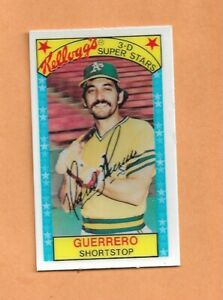MARIO GUERRERO 1979 KELLOGGS 3-D SUPERSTARS CARD # 43