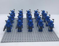 20x Blue Mandalorian Troopers Mini Figures (LEGO STAR WARS Compatible)