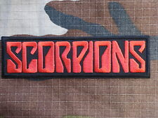 ECUSSON PATCH toppa aufnaher THERMOCOLLANT SCORPIONS groupe rock / 11.7x3.3 cm
