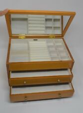 Mele & Co Jewellery Box Wood With Drawers Ring Holder Mirror