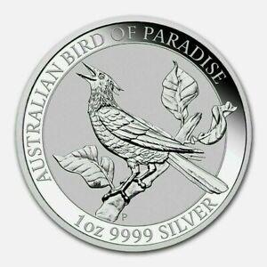 2019 Australia 1 oz Silver Bird of Paradise Manucodia