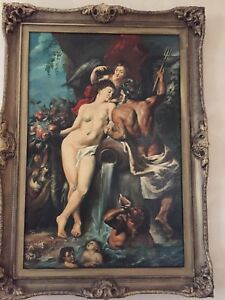 Peter Paul Rubens: Huge Framed on canvas -Union of Earth and Water