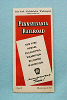 Pennsylvania Railroad Time Table - New York - Philadelphia - Washington - 1947