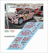 DECAL 1:43 HYUNDAI I 20 R5 NEUVILLE   RALLY YPRES 2018 WINNER