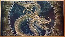 "Gold Dragon GIANT 42"" x 24"" Poster Print Orient Nirvana Zen Peace Tranquility"