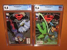 Superman/Batman #22 #23 CGC 9.8 CGC 9.6 WHITE pages! Batman Beyond 12pix Insured