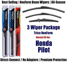 3-Pack Wipers Front & Rear NeoForm - fit 2009-2015 Honda Pilot - 16220/210/14F