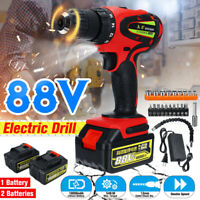 88V Brushless  Electric Drill 54N.M Torque 2-Speed & Battery Screwdriver Set