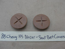 OEM 88 Chevy K5 BLAZER GM SEAT BELT BOLT COVER TRIM (PAIR) TAN/COGNAC
