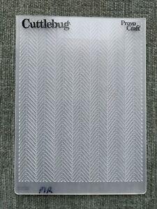 Cuttlebug Chevron Pattern Embossing Folder