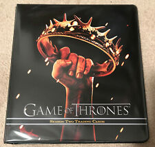 Game of Thrones Season 2 Trading Cards Official Binder Rittenhouse