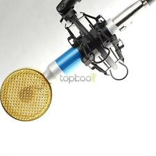 Pro Condenser Cardioid Vocal Mic Microphone For Recording w/ Shock Mount Blue