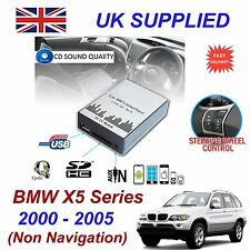 For BMW X5 MP3 SD USB CD AUX Input Audio Adapter Digital CD Changer Module 3+6PN
