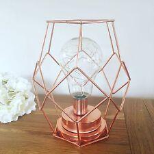 Copper Crush geometric light